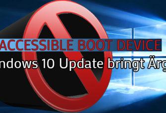Windows 10 - Fehler nach aktuellem Update!