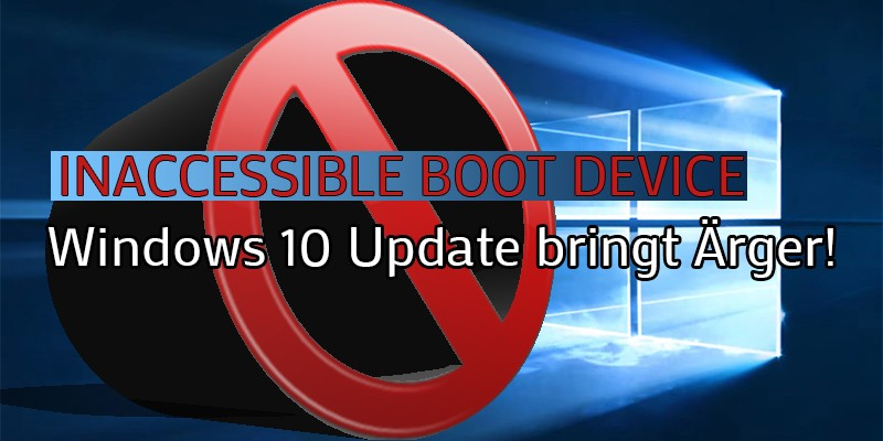 Windows 10 Update Inaccessible Boot Device Banner