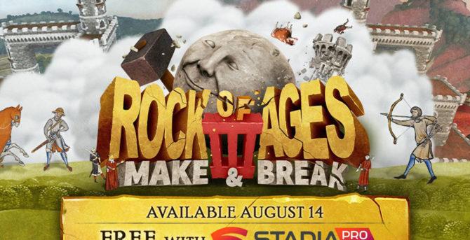 Rock of Ages 3: Make & Break ab heute auf Stadia